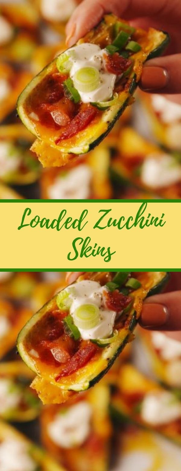 Loaded Zucchini Skins #keto #appetizers