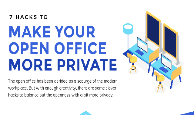 7 Hacks to Make Your Open Office More Private #infographic