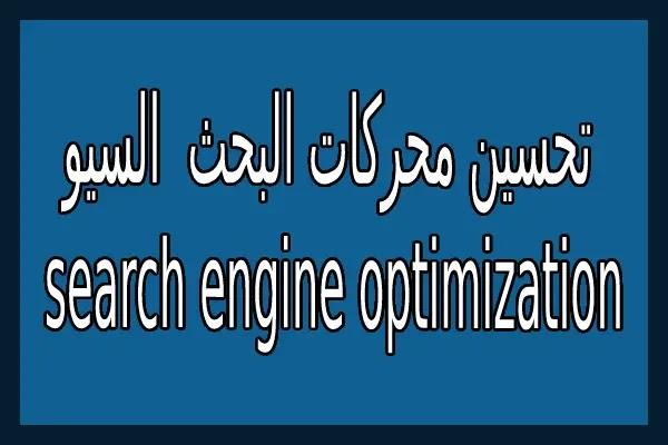 تحسين محركات البحث ( السيو ) search engine optimization