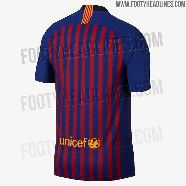 buy popular 37d21 0c48a FC Barcelona 18-19 Home Kit Released - Footy Headlines