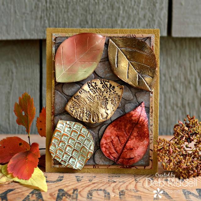 Autumn Leaves Mixed Media Plaque