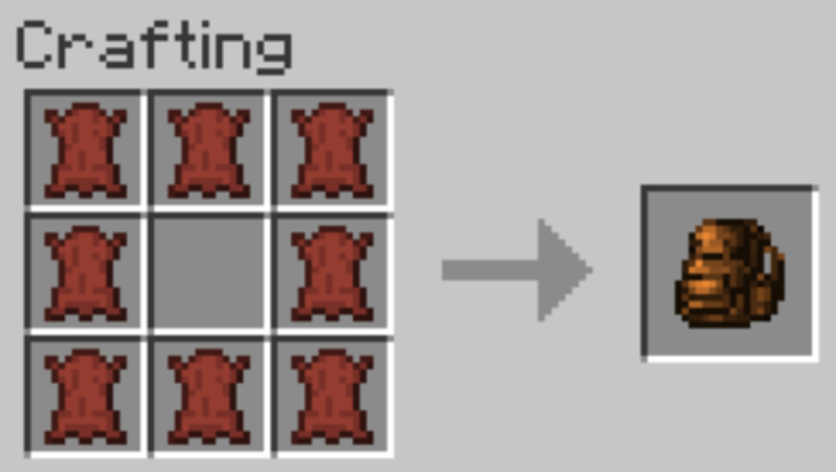 To craft the backpack you need to install the Backpacked mod
