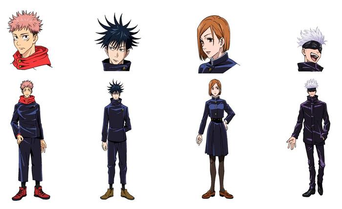 Jujutsu Kaisen anime - personajes