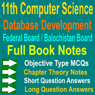 Chapter Wise Computer Science Chapter 8 Data Base Development Notes