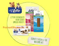 Logo Campioni omaggio per cani o gatti  e coupon con Club Amici di Life: scopri come riceverli gratis
