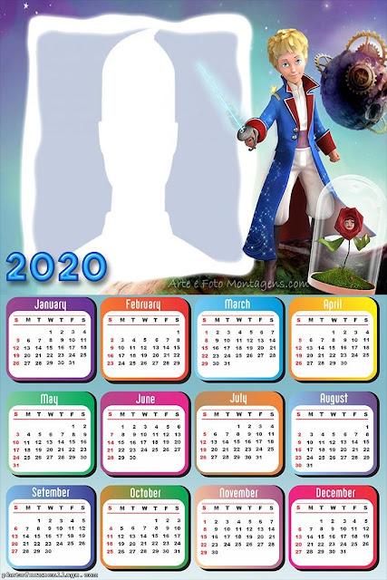 Little Prince: Free Printable 2020 Calendar
