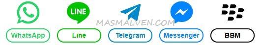 Tombol Menuju Chat Langsung Ke Berbagai Messaging App Ala Masmalven