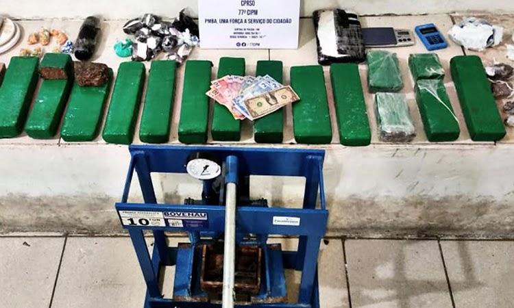 Polícia prende traficante e apreende 11 Kg de drogas em Vitória da Conquista