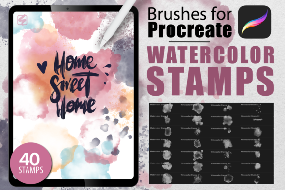Procreate - Watercolor Stamps 4697904