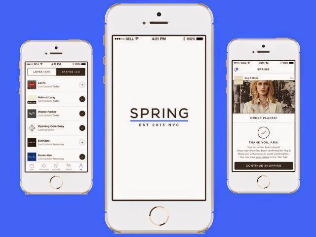 Snapchat investindo em um aplicativo comercial chamado Spring