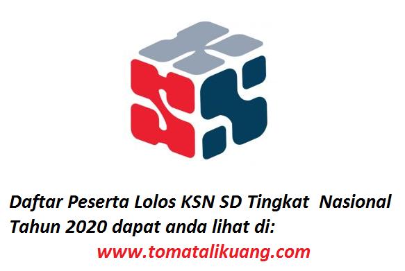 daftar peserta ksn sd tingkat nasional tahun 2020 bidang matematika dan ilmu pengetahuan alam tomatalikuang.com