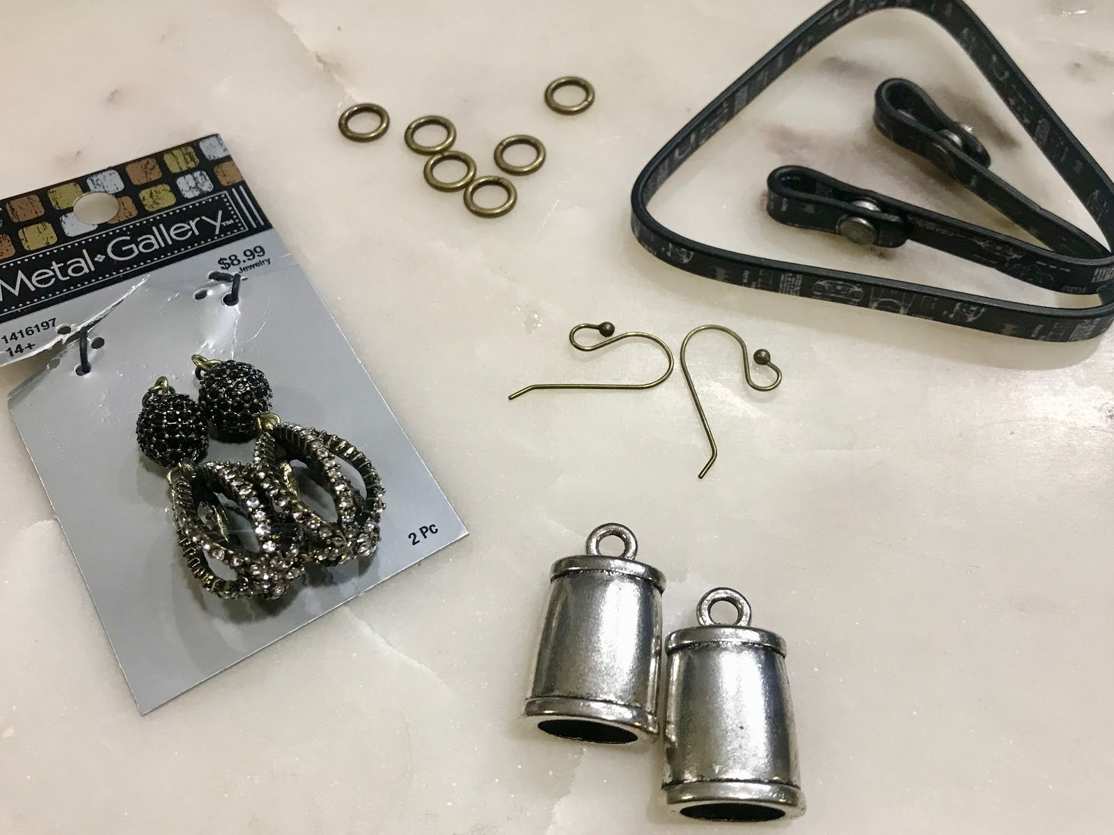 Image: Items used to make earrings for Bits and Babbles. Written by Tangie Bell