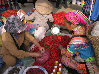 Bac Ha ethnic market in Vietnam