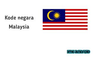 Nomor kode telepon negara malaysia