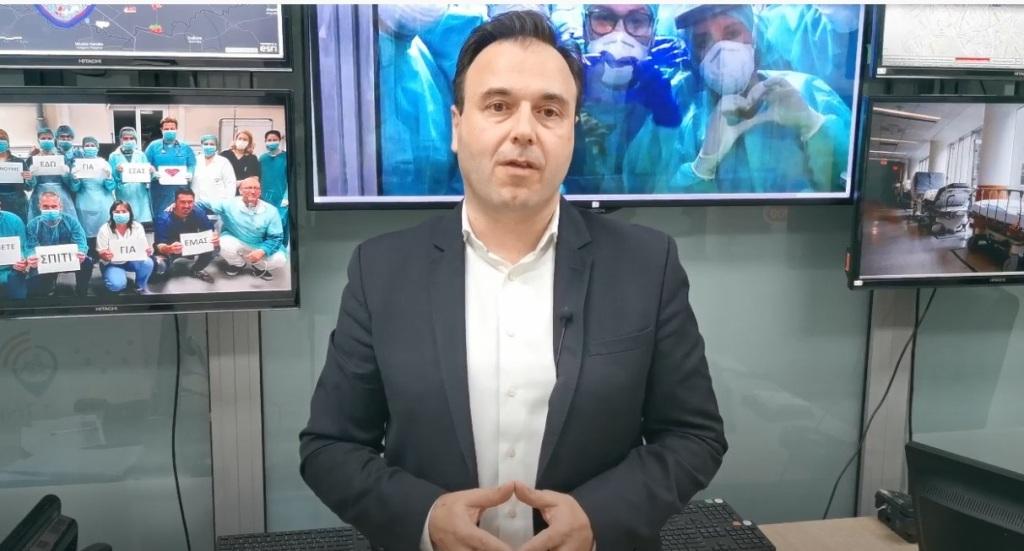 Το μήνυμα Παπαστεργίου για την Παγκόσμια ημέρα Νοσηλευτών - Νοσηλευτριών (VIDEO)