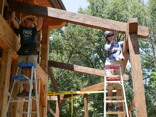 Timber Frame Cabin Building Log: Timber Framing Joinery: The