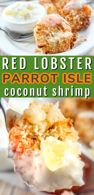 Red Lobster Parrot Isle Jumbo Shrimp with Pina Colada Sauce