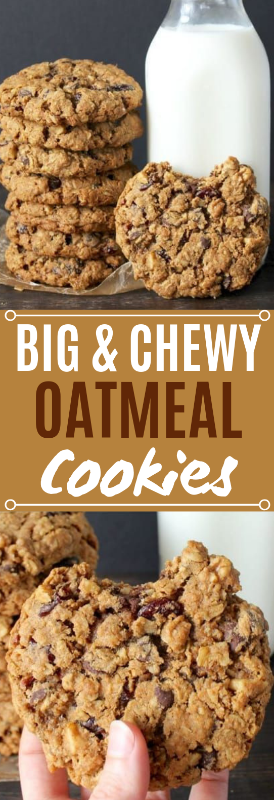 Big and Chewy Oatmeal Cookies #cookies #recipes
