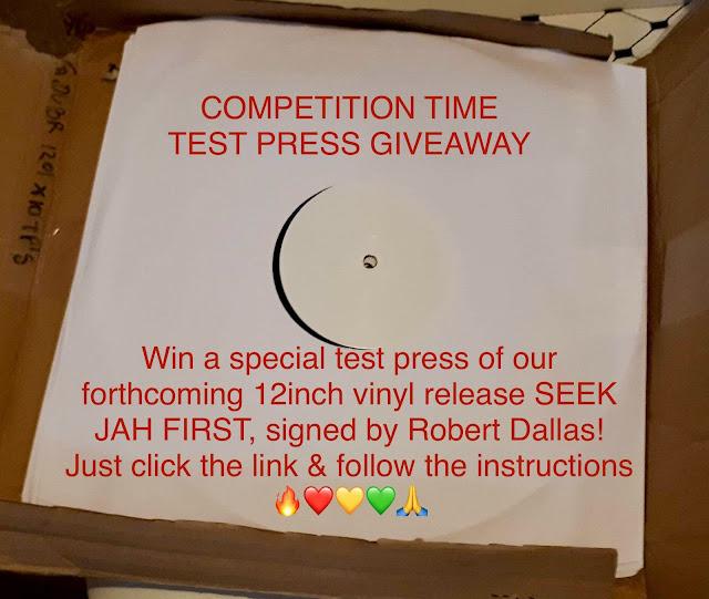 Win a test press of Seek Jah First / Hermit Dubx / Robert Dallas / Ranking Joe / Med Dred / Bongo Damo / Dubophonic / Cyprus