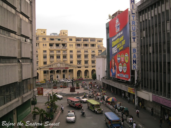 Lacson Plaza as viewed from LRT-Carriedo Station.