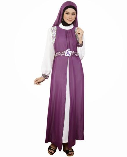 Contoh style baju islamic remaja Syar'i