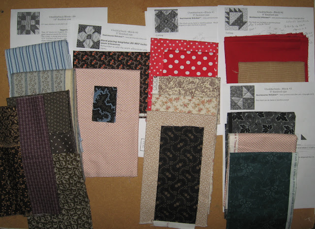 possible fabric choices for Cheddarback Blocsk 39-43