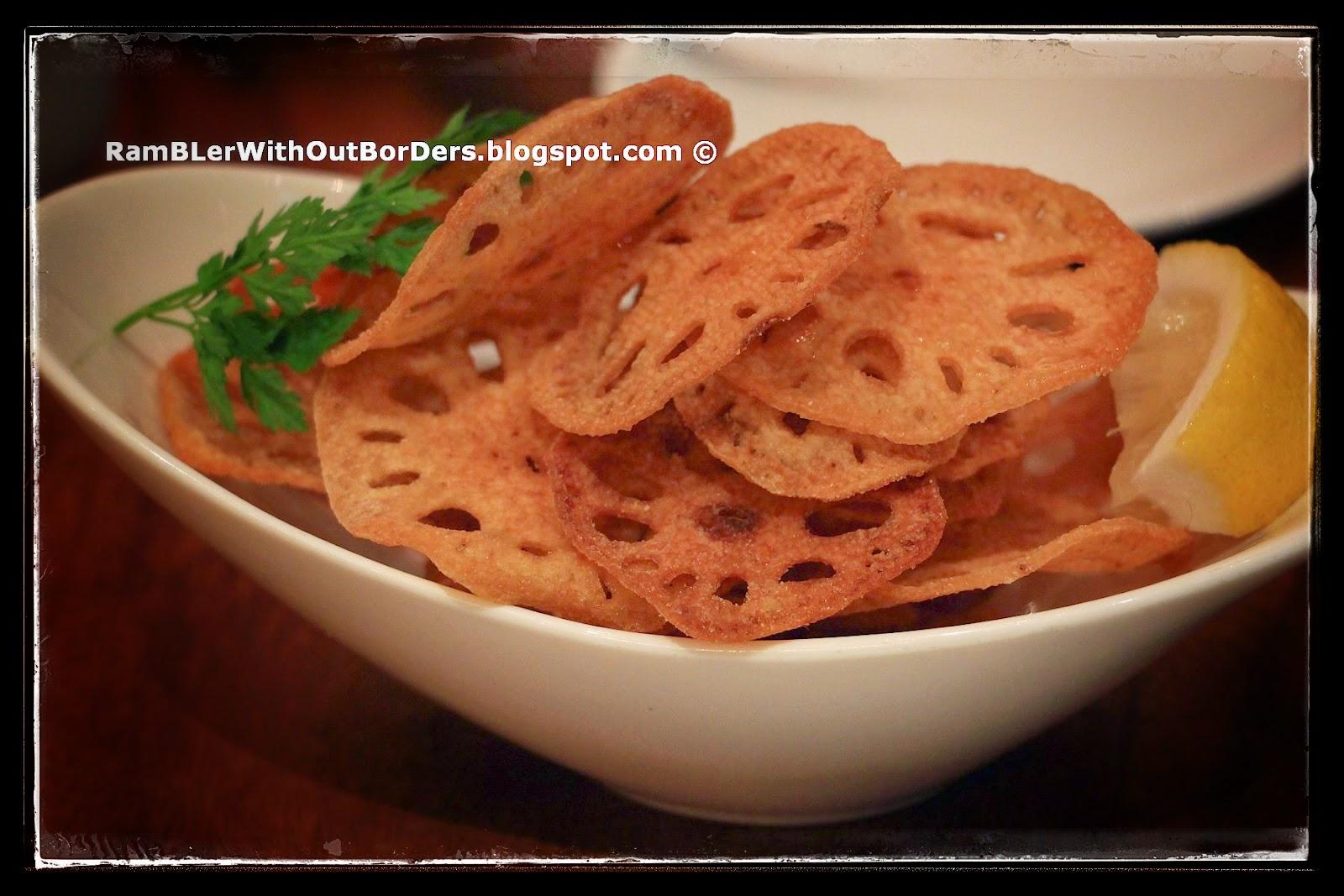 Fried lotus root chips, Ippudo, Mandarin Gallery, Singapore