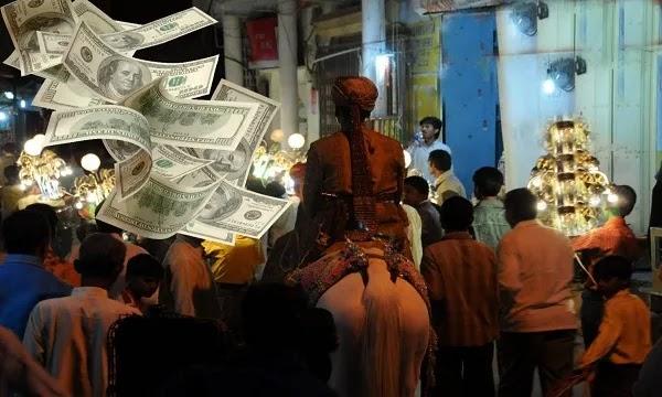 Raining of Dollars in Wedding  at Sialkot