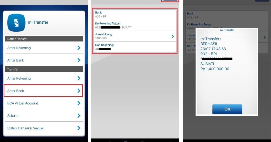 Cara Transfer Uang Lewat M Banking Bca Ke Mandiri - Info ...