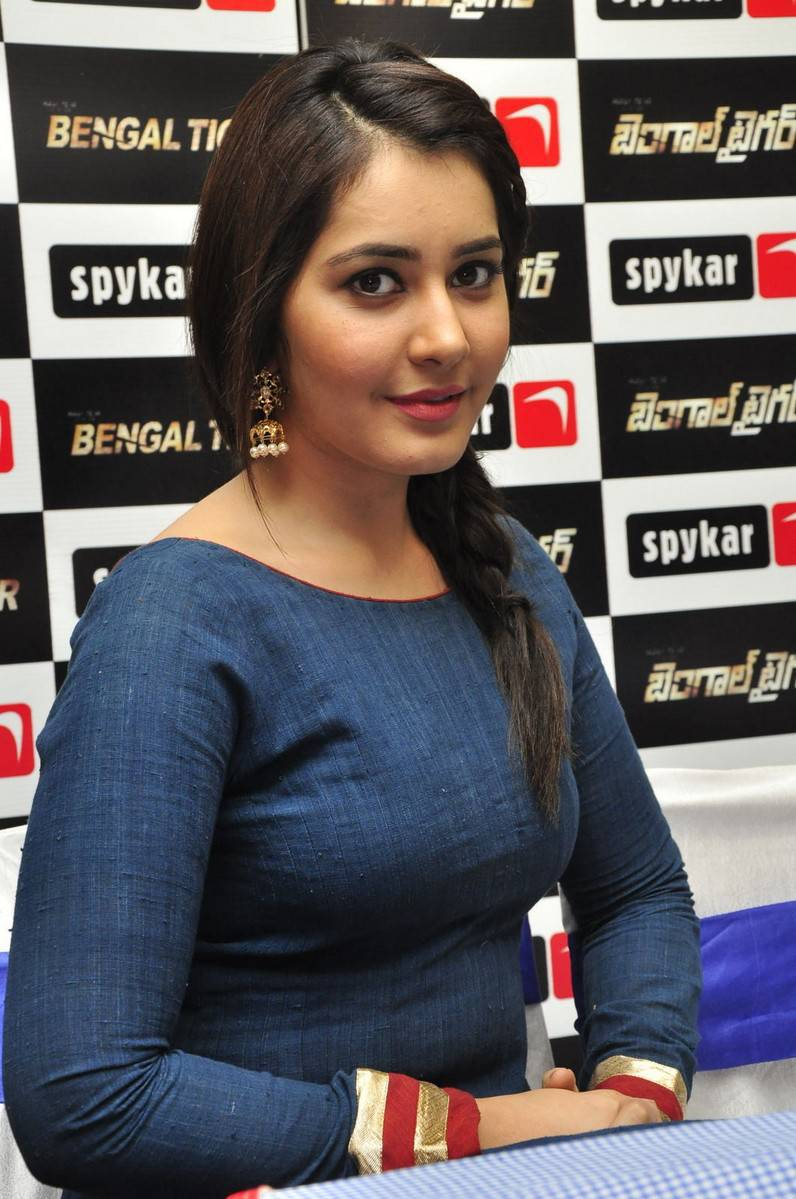 Rashi Khanna Latest Hot Stills In Blue Dress
