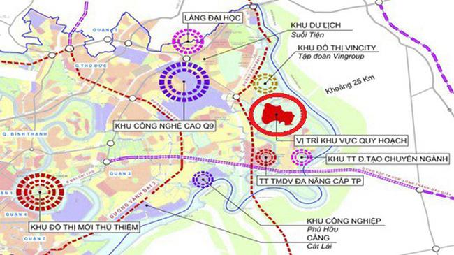 Liên kết vùng dự án căn hộ Vincity New Saigon