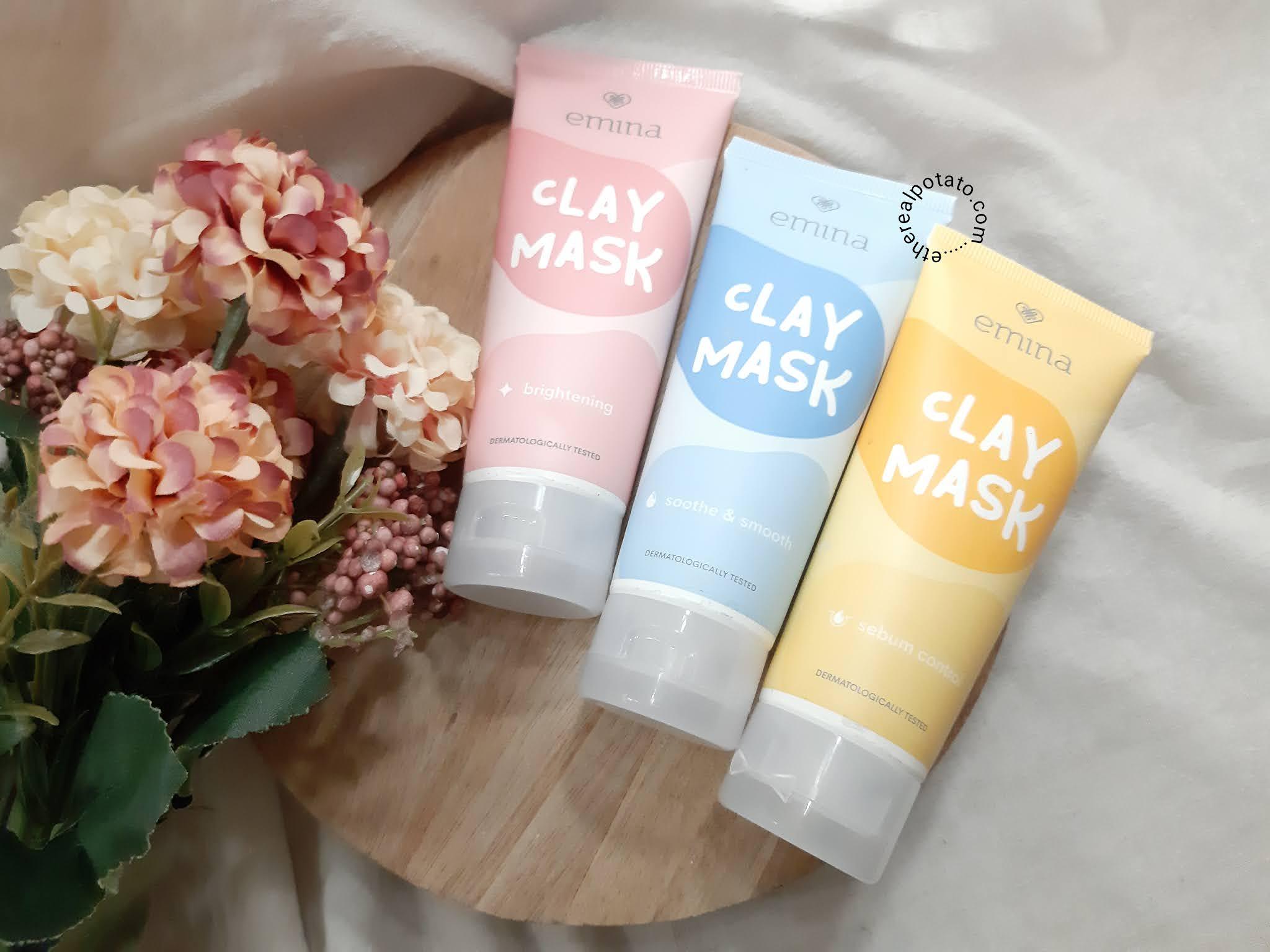 Review Emina Clay Mask Masker Lokal Untuk Semua Jenis Kulit Ethereal Potato Ellen Lim