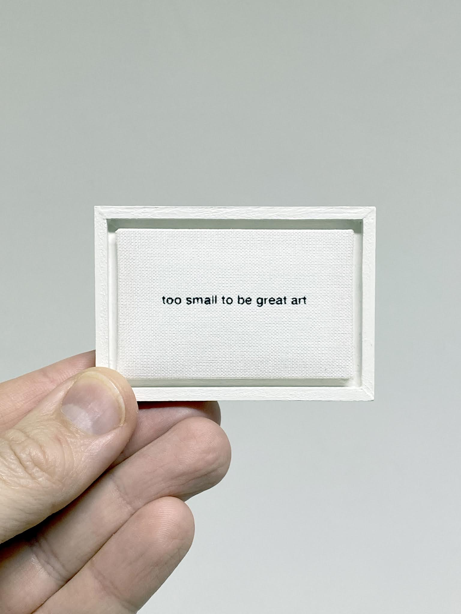 too small to be great art by anatol knotek