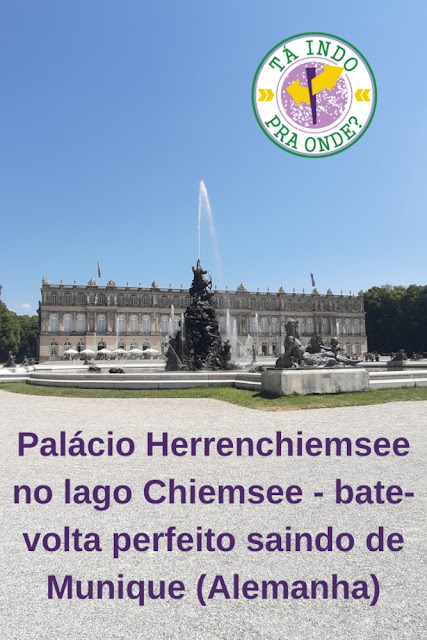 Palácio de Herrenchiemsee - palácio inacabado do rei Ludwig II no meio do lago Chiemsee no sul da Alemanha
