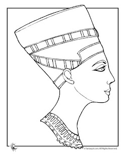 colorear dibujo de Nefertiti