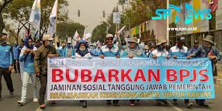 Demo Buruh di DPR: Bubarkan BPJS Kesehatan!