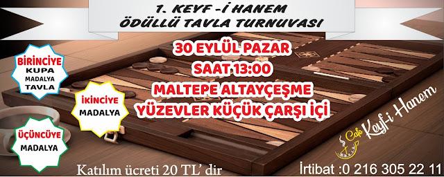 1.Keyfi- Hanem Ödüllü Tavla Turnuvası