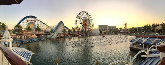Sunset on Paradise Pier