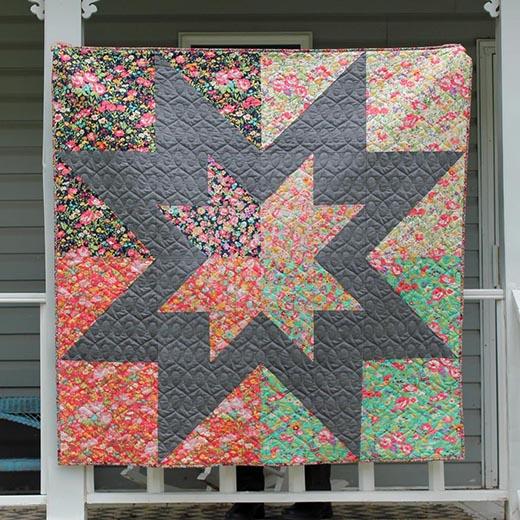Regent Street Star Quilt designed by Kristina Brinkerhoff of Center Street Quilts for  Modabakeshop