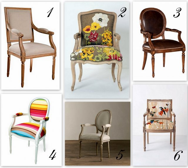 Louis XV chair Inspiration collage