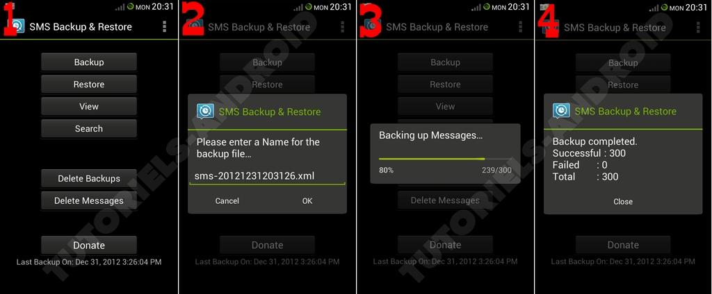 Sauvegarde des SMS sur Android