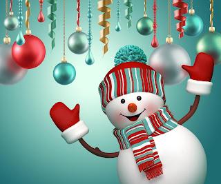 boneco de neve natal