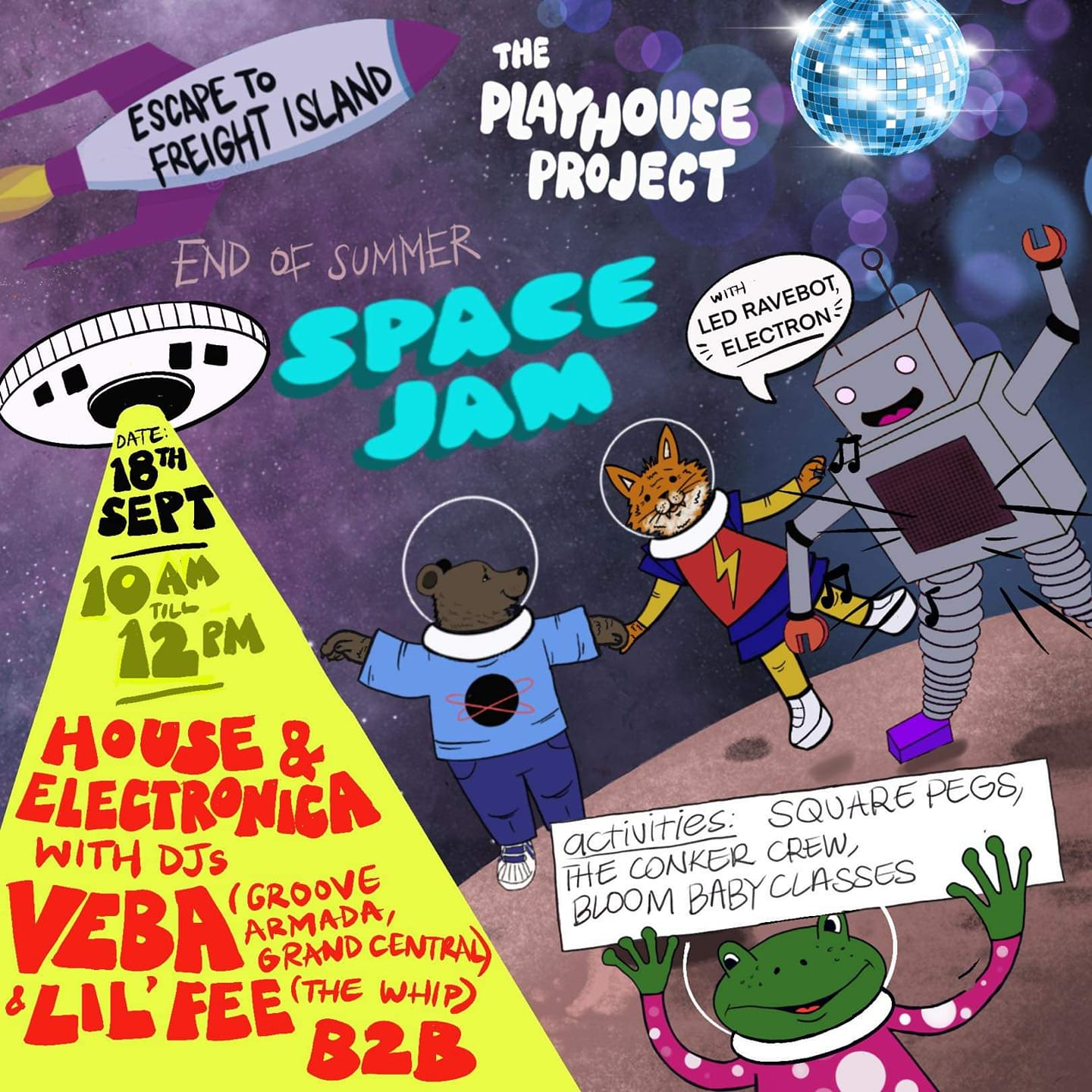 End of Summer Family Space Jam - Escape to Freight Island