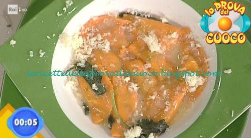 Ravioli con formaggio filante agli asparagi ricetta Bongiovanni da Prova del Cuoco