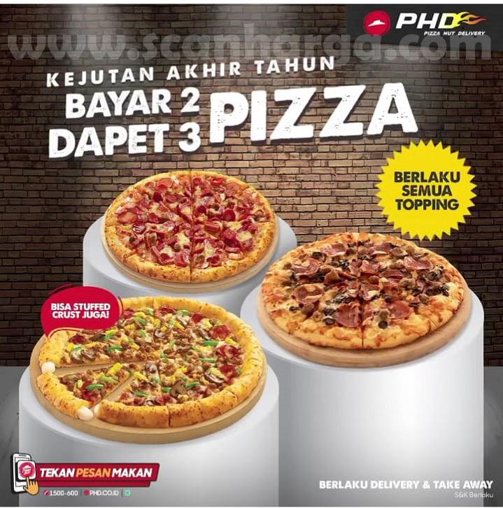 Promo PHD Bayar 2 Pizza Dapet 3 Pizza Berlaku untuk Semua Topping