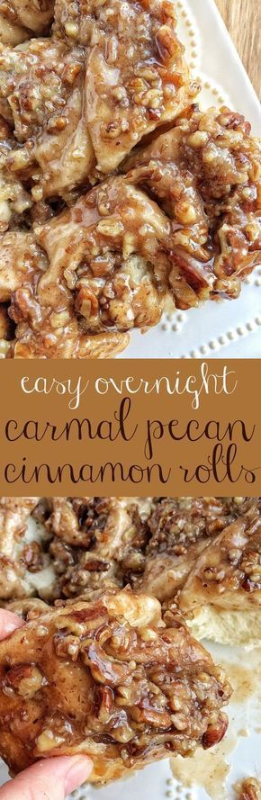 Easy Overníght Caramel Pecan Cínnamon Rolls