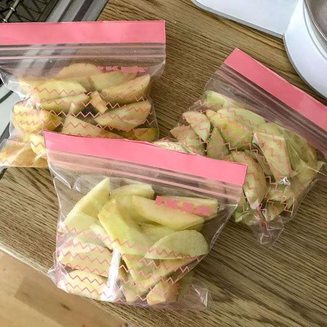 äppelklyftor, appleslices