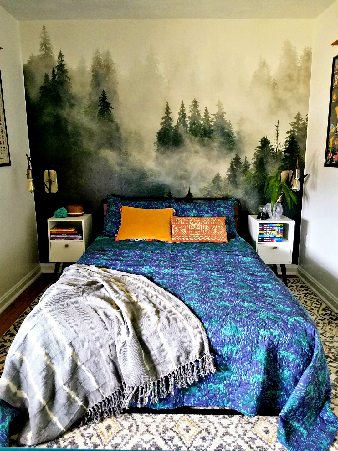 Designed A Kids Room - Big Impact Low Effort Design  Photowall Mural Accent Wall - TheBohoAbode blog