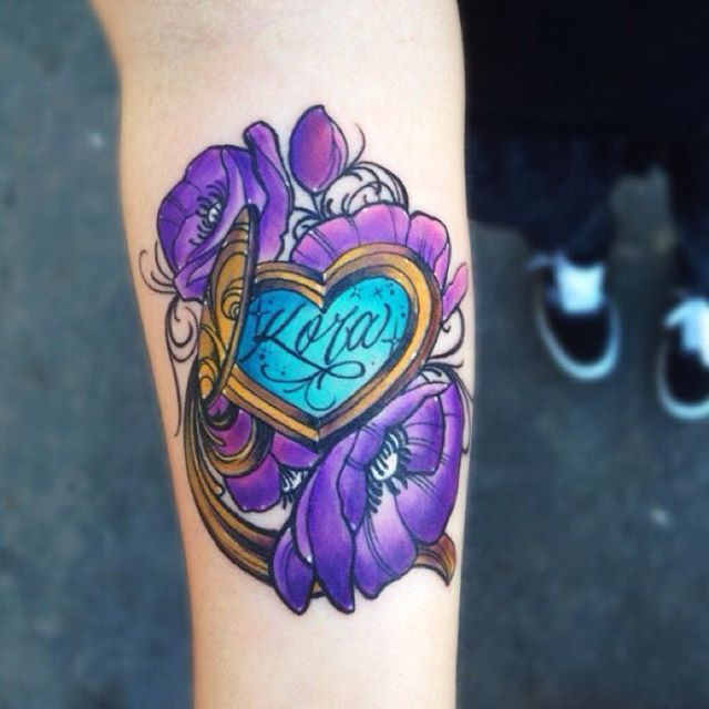 amazing, beautiful heart tattoo