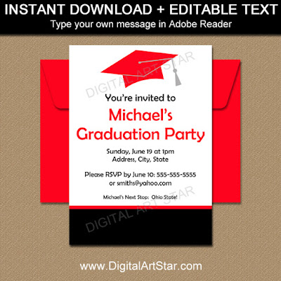 printable graduation party invites for the class of 2016